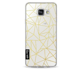 Abstraction Outline Gold Transparent - Samsung Galaxy A3 (2016)