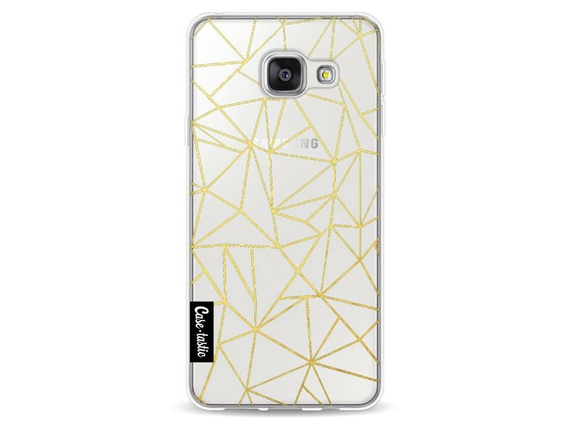Casetastic Softcover Samsung Galaxy A3 (2016) - Abstraction Outline Gold Transparent