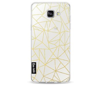 Abstraction Outline Gold Transparent - Samsung Galaxy A5 (2016)