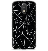 Casetastic Softcover Motorola Moto G4 / G4 Plus - Abstract Dotted Lines Black