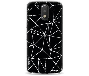 Abstract Dotted Lines Black - Motorola Moto G4 / G4 Plus