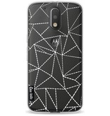Casetastic Softcover Motorola Moto G4 / G4 Plus - Abstract Dotted Lines Transparent