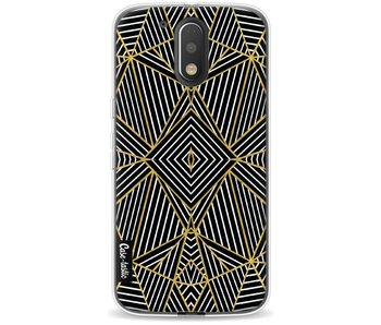 Abstraction Half Gold - Motorola Moto G4 / G4 Plus