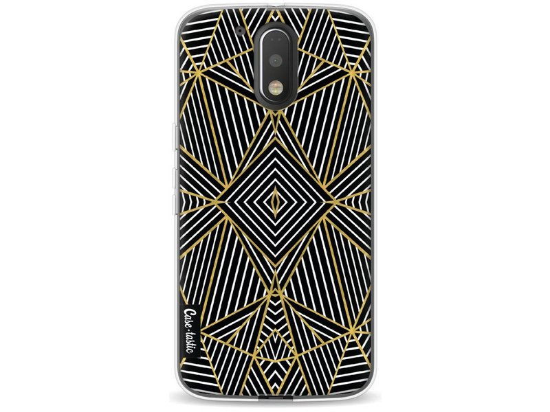 Casetastic Softcover Motorola Moto G4 / G4 Plus - Abstraction Half Gold