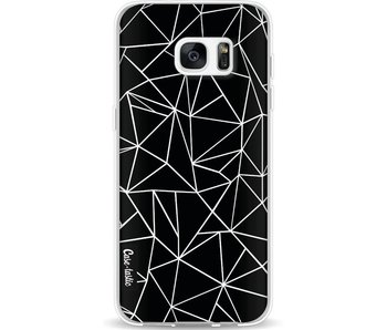 Abstraction Outline Black - Samsung Galaxy S7 Edge