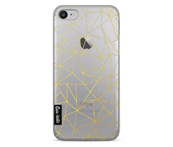 Abstraction Outline Gold Transparent - Apple iPhone 7
