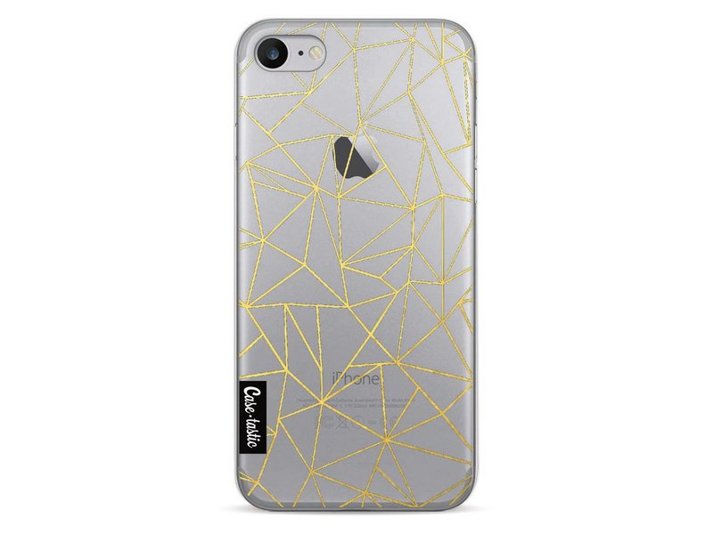 Casetastic Softcover Apple iPhone 7 - Abstraction Outline Gold Transparent