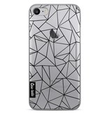 Casetastic Softcover Apple iPhone 7 - Abstraction Outline Black Transparent