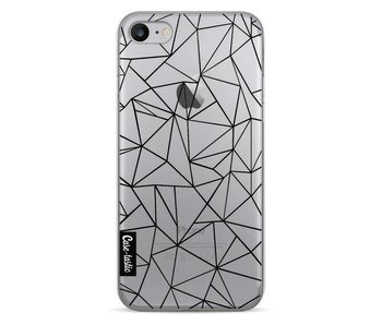 Abstraction Outline Black Transparent - Apple iPhone 7