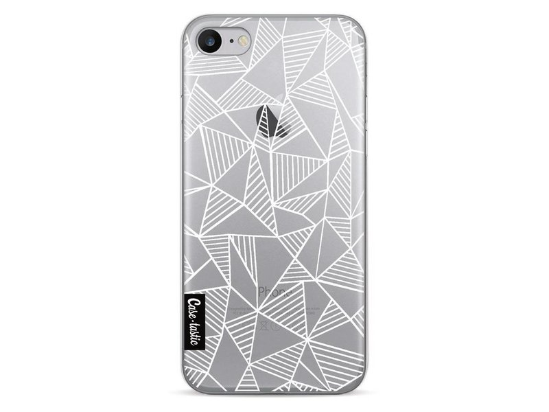 Casetastic Softcover Apple iPhone 7 - Abstraction Lines White Transparent