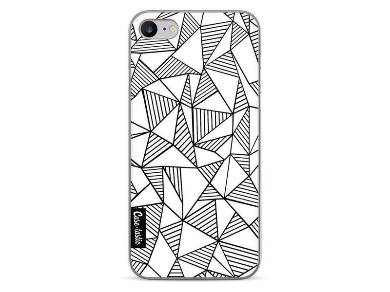 Casetastic Softcover Apple iPhone 7 - Abstraction Lines White