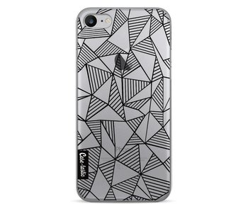 Abstraction Lines Black Transparent - Apple iPhone 7