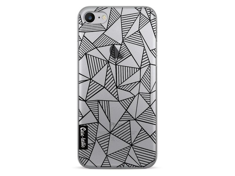 Casetastic Softcover Apple iPhone 7 - Abstraction Lines Black Transparent