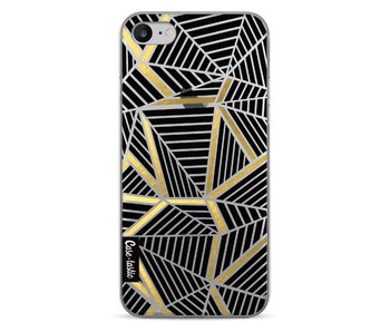 Abstraction Lines Black Gold Transparent - Apple iPhone 7