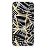 Casetastic Softcover Apple iPhone 7 - Abstraction Lines Black Gold