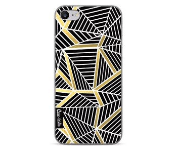 Abstraction Lines Black Gold - Apple iPhone 7