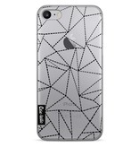 Casetastic Softcover Apple iPhone 7 - Abstract Dotted Lines Black Transparent
