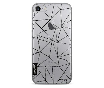 Abstract Dotted Lines Black Transparent - Apple iPhone 7