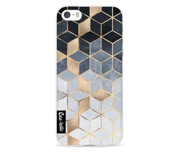 Soft Blue Gradient Cubes - Apple iPhone 5 / 5s / SE