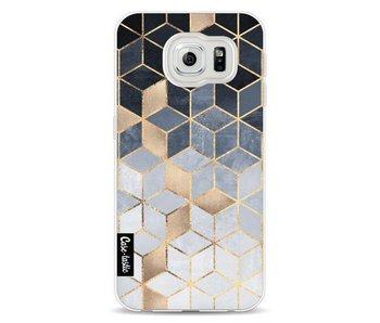 Soft Blue Gradient Cubes - Samsung Galaxy S6