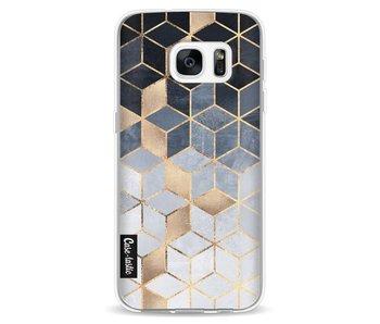 Soft Blue Gradient Cubes - Samsung Galaxy S7