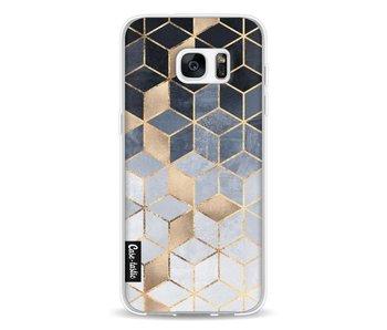 Soft Blue Gradient Cubes - Samsung Galaxy S7 Edge