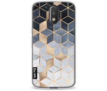 Soft Blue Gradient Cubes - Motorola Moto G4 / G4 Plus