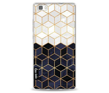 White and Navy Cubes - Huawei P8 Lite