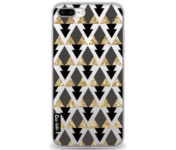 Gold Black Triangles - Apple iPhone 7 Plus