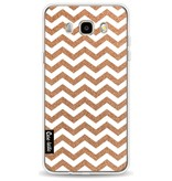 Casetastic Softcover Samsung Galaxy J5 (2016) - Copper Chevron