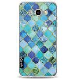 Casetastic Softcover Samsung Galaxy J5 (2016) - Aqua Moroccan Tiles