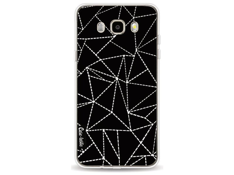 Casetastic Softcover Samsung Galaxy J5 (2016) - Abstract Dotted Lines Black