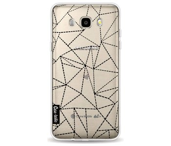 Abstract Dotted Lines Black Transparent - Samsung Galaxy J5 (2016)