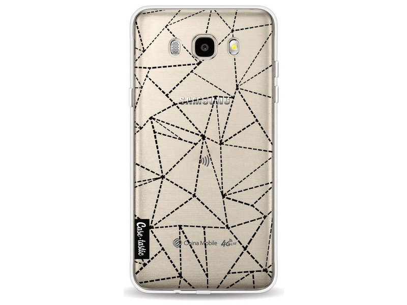 Casetastic Softcover Samsung Galaxy J5 (2016) - Abstract Dotted Lines Black Transparent