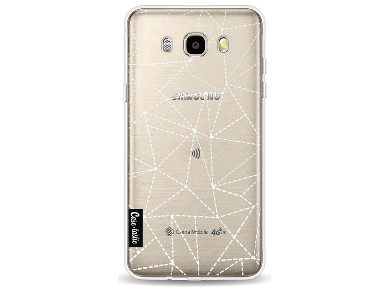 Casetastic Softcover Samsung Galaxy J5 (2016) - Abstract Dotted Lines Transparent
