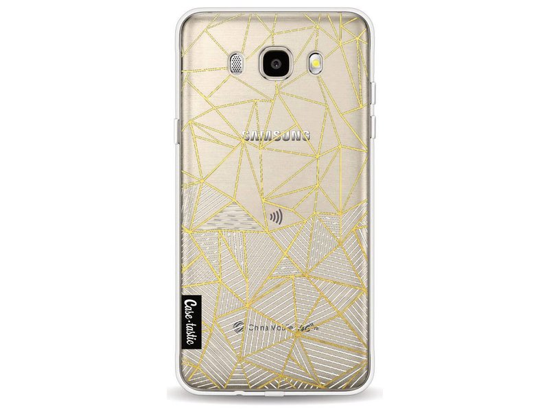 Casetastic Softcover Samsung Galaxy J5 (2016) - Abstraction Half Half Transparent