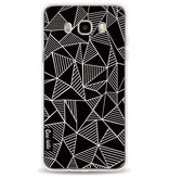 Casetastic Softcover Samsung Galaxy J5 (2016) - Abstraction Lines Black