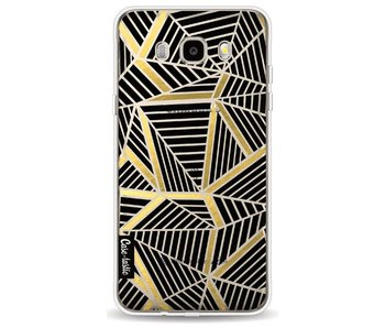 Abstraction Lines Black Gold Transparent - Samsung Galaxy J5 (2016)