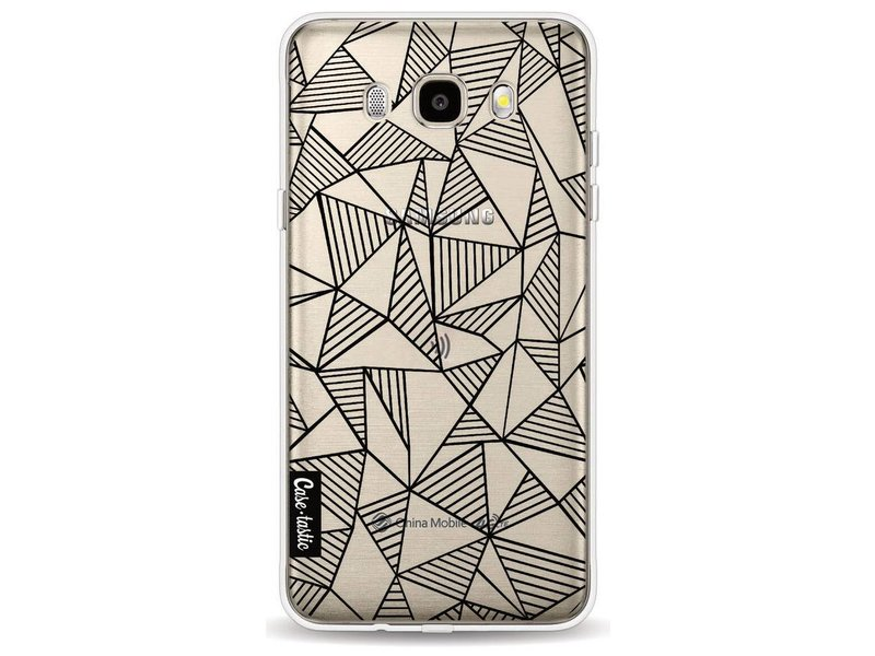 Casetastic Softcover Samsung Galaxy J5 (2016) - Abstraction Lines Black Transparent