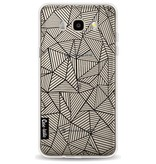 Casetastic Softcover Samsung Galaxy J5 (2016) - Abstraction Lines Transparent