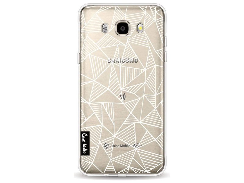 Casetastic Softcover Samsung Galaxy J5 (2016) - Abstraction Lines White Transparent
