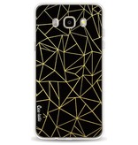 Casetastic Softcover Samsung Galaxy J5 (2016) - Abstraction Outline Gold