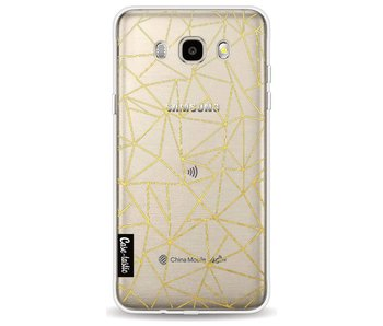 Abstraction Outline Gold Transparent - Samsung Galaxy J5 (2016)
