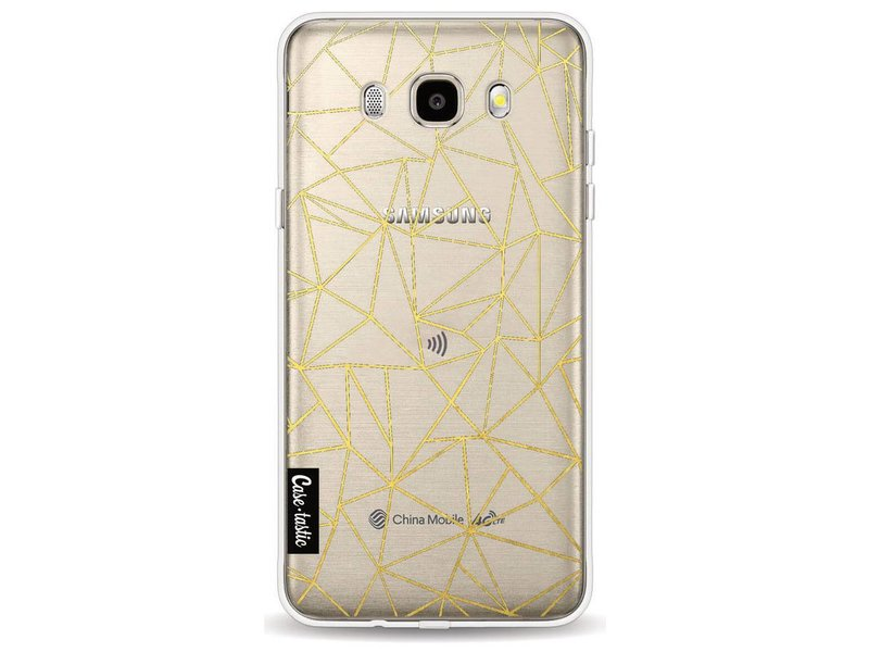 Casetastic Softcover Samsung Galaxy J5 (2016) - Abstraction Outline Gold Transparent