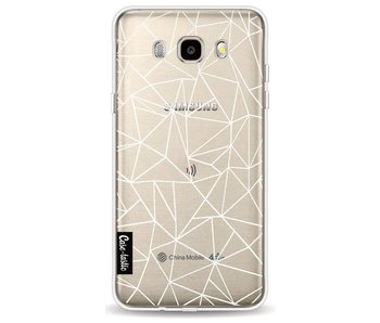 Abstraction Outline White Transparent - Samsung Galaxy J5 (2016)