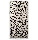 Casetastic Softcover Samsung Galaxy J5 (2016) - British Mosaic Black Transparent