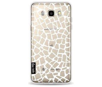 British Mosaic White Transparent - Samsung Galaxy J5 (2016)
