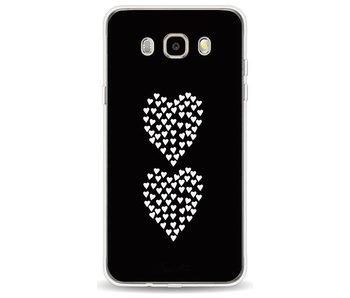 Hearts Heart 2 Black - Samsung Galaxy J5 (2016)