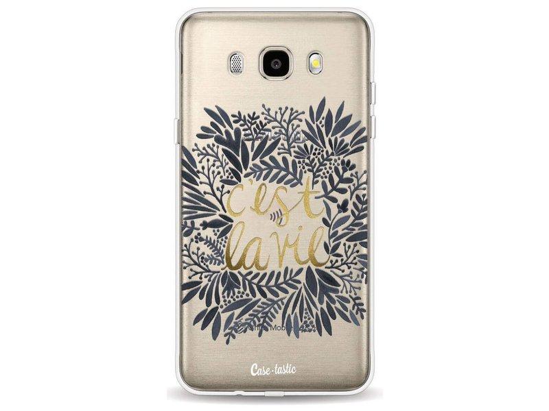 Casetastic Softcover Samsung Galaxy J5 (2016) - Cest La Vie BlackGold