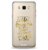 Casetastic Softcover Samsung Galaxy J5 (2016) - Coffee Wine Gold
